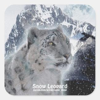 Snow Leopard & Mountains Wildlife Stickers