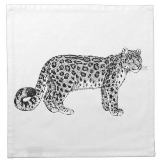 Snow Leopard Printed Napkin