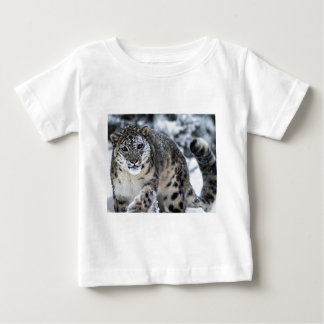 Snow Leopard on the Prowl Baby T-Shirt