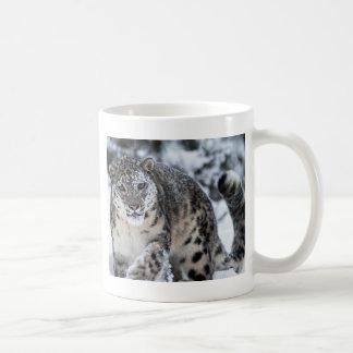 Snow Leopard on the Prowl Coffee Mug