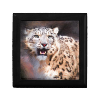 Snow Leopard Painting Gift Box