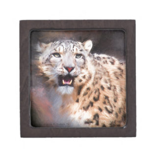 Snow Leopard Painting Jewelry Box