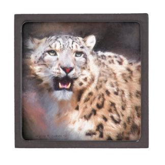 Snow Leopard Painting Keepsake Box
