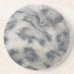 Snow Leopard pattern Beverage Coaster