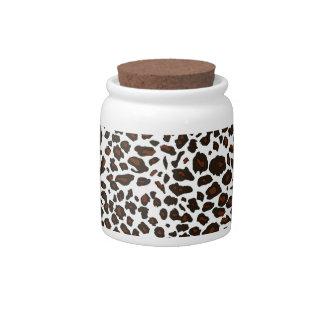 Snow Leopard Pattern Candy Jars