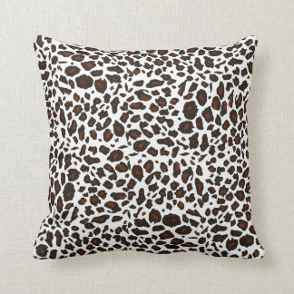 Snow Leopard Pattern Throw Pillow