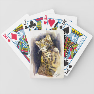 Snow Leopard Playing Cards