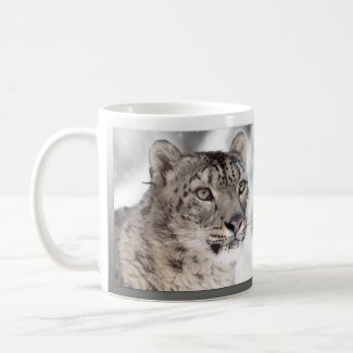Snow Leopard Portrait Big Cat Mug