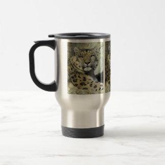 Snow Leopard Portrait Travel Mug