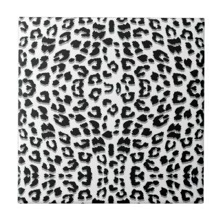 Snow Leopard Print Custom Ceramic Tile