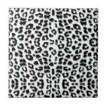 Snow Leopard Print Custom Small Square Tile