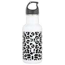 Snow Leopard Print Custom Water Bottle