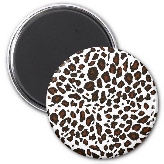 Snow Leopard Print Magnet
