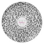 Snow Leopard Print Plate