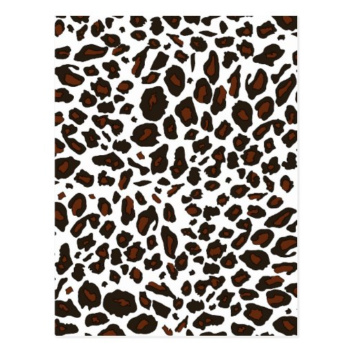 Snow Leopard Print Post Cards
