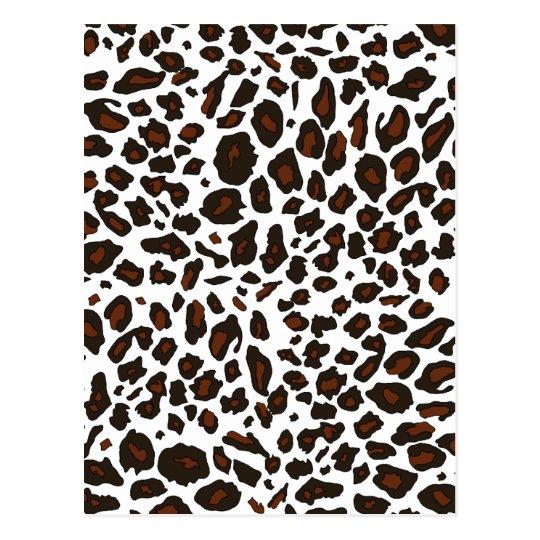 Snow Leopard Print Postcard