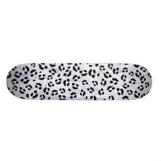 Snow Leopard Print Skateboard