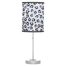 Snow Leopard Print Table Lamp