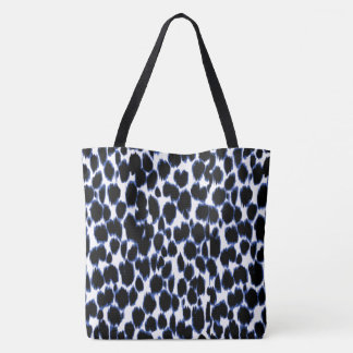 Snow Leopard Print Tote Bag