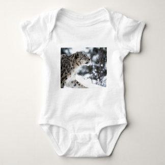 Snow Leopard Profile Baby Bodysuit