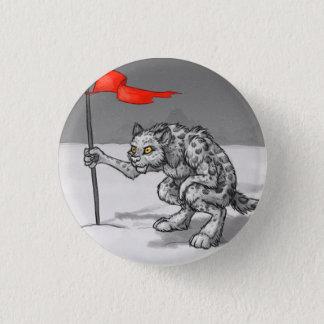 Snow Leopard Sentry Pinback Button