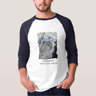 Snow Leopard & Snow, Mountains & Moon Wildlife Art T-Shirt