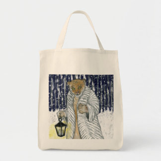 Snow Leopard Tote Grocery Tote Bag