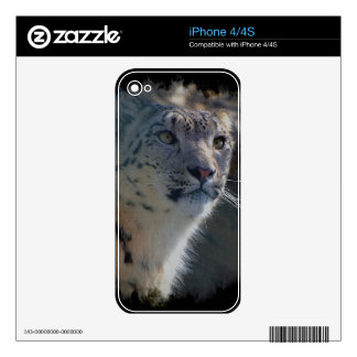 Snow Leopard Wild-Cat Animal-Lover iPhone Skin iPhone 4S Decals