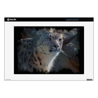 "Snow Leopard Wild-Cat Animal-Lover LaptopSkin Decal For 15"" Laptop"