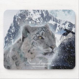 Snow Leopard Wild Cat Animal Lover Mousepad