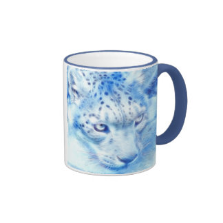 *Snow Leopard* Wild Spirit Ringer Coffee Mug