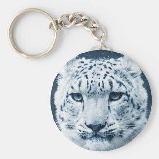 Snow Leopard Winter Snow Wildcat Nature Keychain