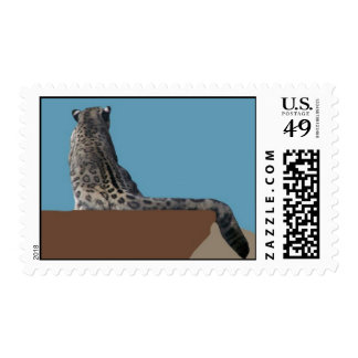 Snow Leopard with no snow postage