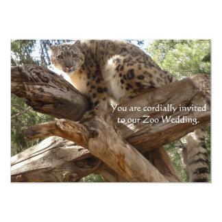 Snow Leopard Zoo Wedding Invitations