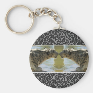 SNOW LEOPARDS FACE OFF KEY CHAINS