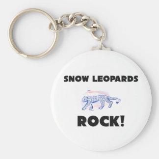 Snow Leopards Rock Keychain