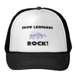 Snow Leopards Rock Trucker Hat