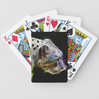Snow lepoard bicycle playing cards