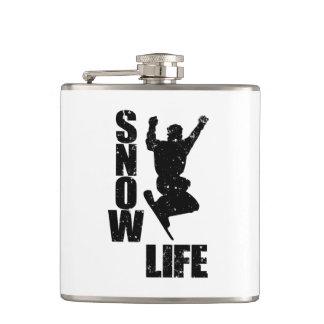 SNOW LIFE #3 (blk) Flask