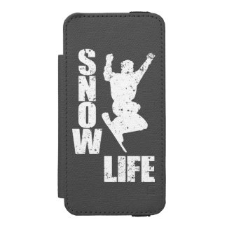 SNOW LIFE #3 (wht) iPhone SE/5/5s Wallet Case