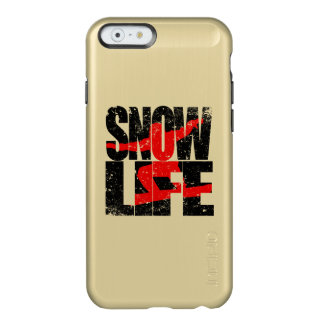 SNOW LIFE red boarder (blk) Incipio Feather Shine iPhone 6 Case