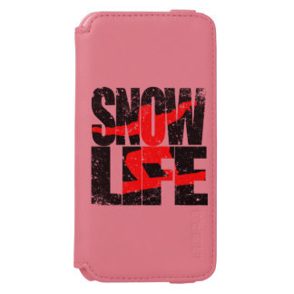 SNOW LIFE red boarder (blk) iPhone 6/6s Wallet Case