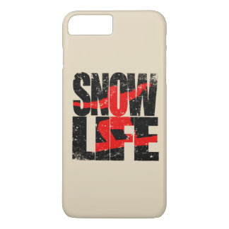 SNOW LIFE red boarder (blk) iPhone 8 Plus/7 Plus Case