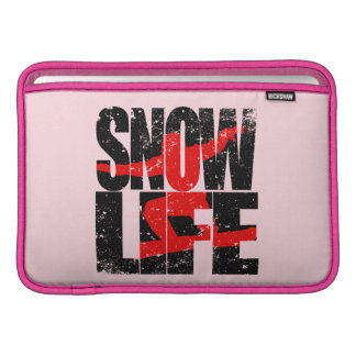 SNOW LIFE red boarder (blk) MacBook Air Sleeve