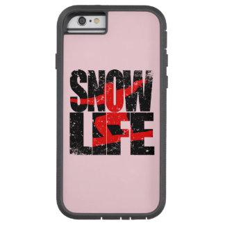 SNOW LIFE red boarder (blk) Tough Xtreme iPhone 6 Case