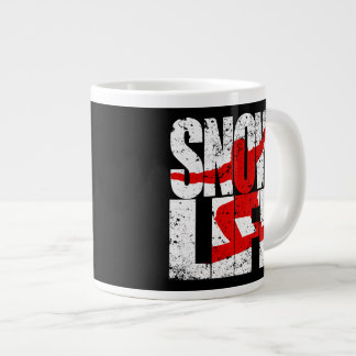 SNOW LIFE red boarder (wht) Large Coffee Mug