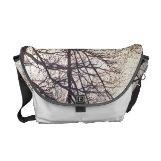 Snow Lit Tree Messenger Bag
