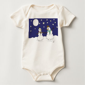Snow Love Baby Bodysuit
