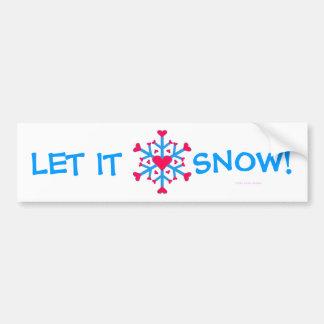 Snow Love - Bumper Sticker