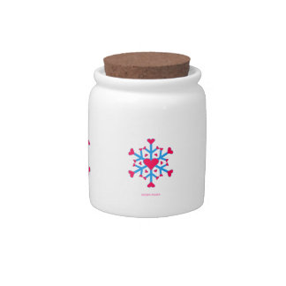 Snow Love Candy Jar